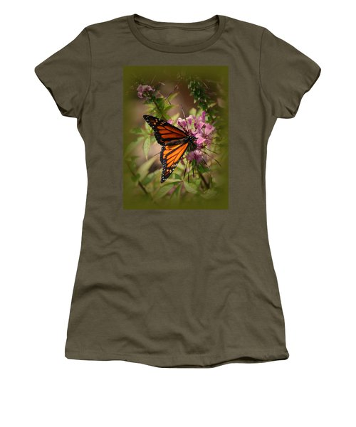Women's T-Shirt (Junior Cut) featuring the photograph Butterfly 5 by Leticia Latocki
