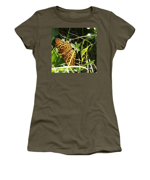 Butterfly At Signal Mountain Women's T-Shirt (Junior Cut) by Belinda Greb