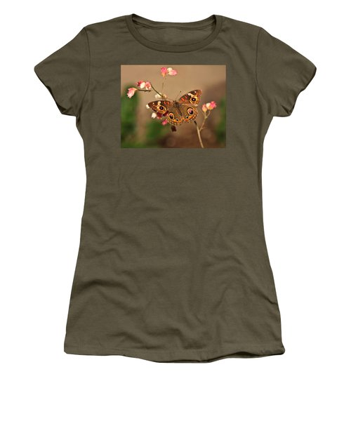 Butterfly On Pink Women's T-Shirt