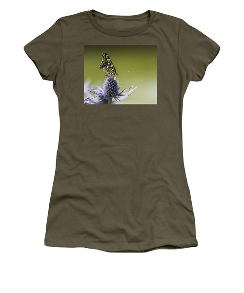 Butterfly On Thistle Women's T-Shirt (Junior Cut) by Peter v Quenter