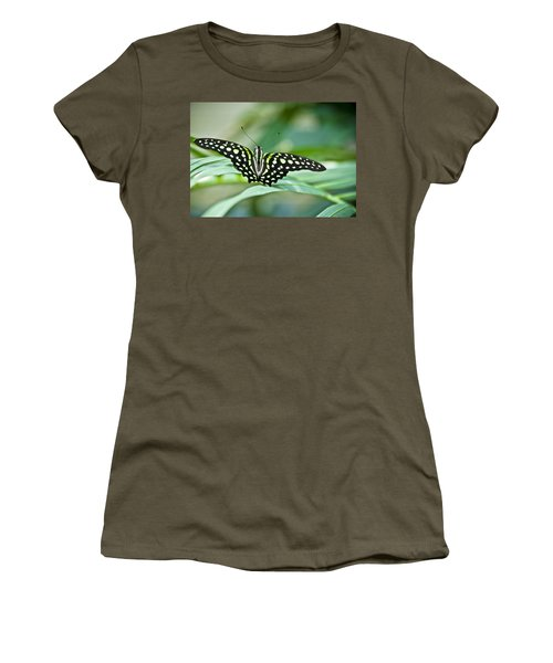 Butterfly Resting Color Women's T-Shirt