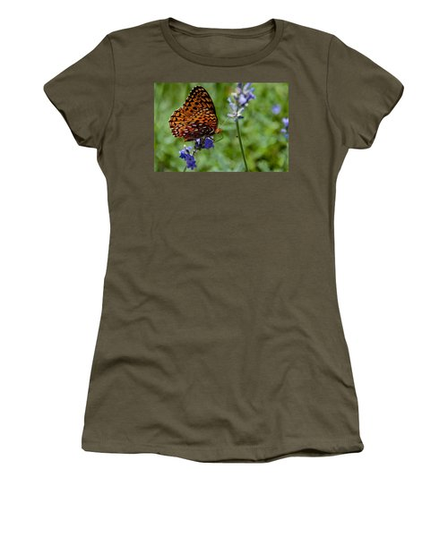 Butterfly Visit Women's T-Shirt