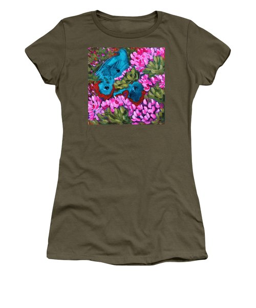 Cactus Flower Blue Bird Dream Women's T-Shirt (Athletic Fit)