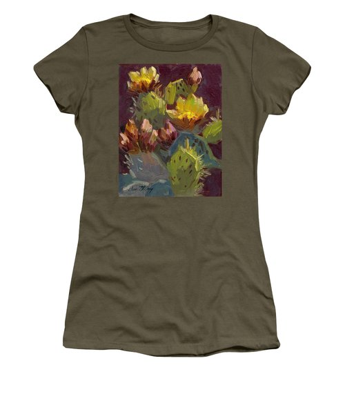 Cactus In Bloom 1 Women's T-Shirt (Athletic Fit)