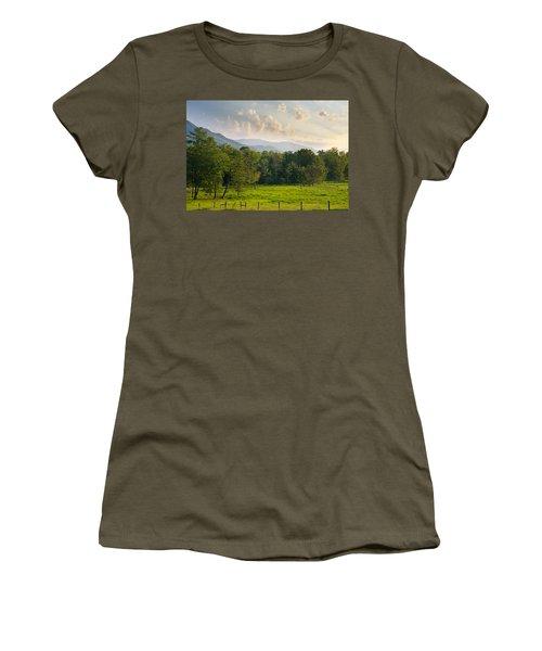 Cades Cove Women's T-Shirt (Junior Cut) by Melinda Fawver
