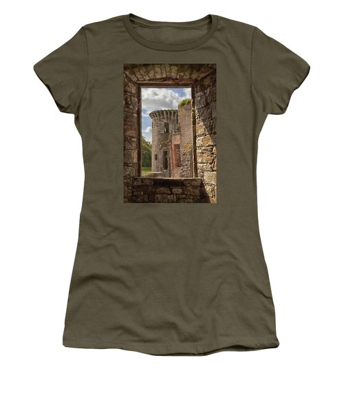 Caerlaverock Castle Women's T-Shirt (Junior Cut) by Eunice Gibb