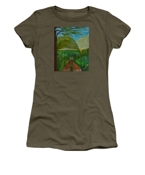 Women's T-Shirt (Junior Cut) featuring the painting Called To The Mission Field by Cassie Sears