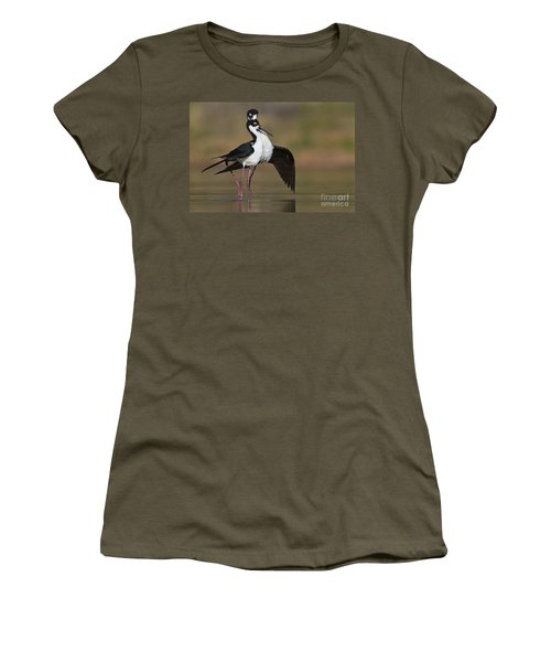 Women's T-Shirt (Junior Cut) featuring the photograph Can I Have This Dance by Bryan Keil
