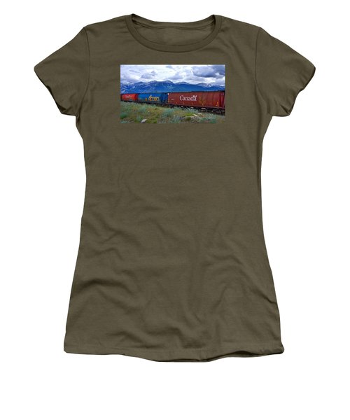 Canadian Freight Train In Jasper #2 Women's T-Shirt