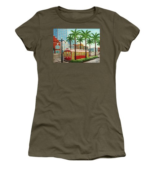 Canal Street Car Line I I Women's T-Shirt (Athletic Fit)