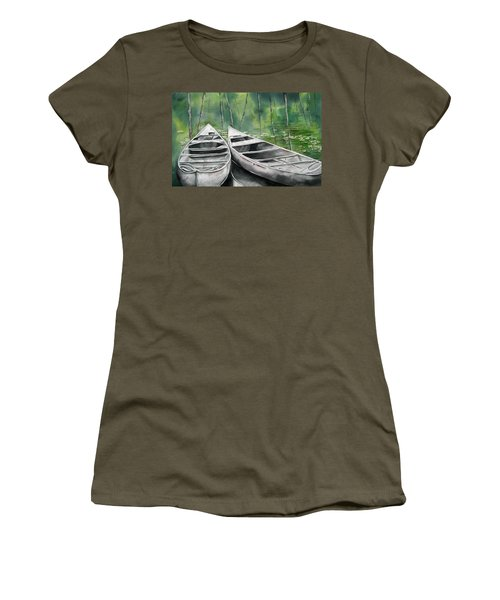 Canoes To Go Women's T-Shirt (Athletic Fit)