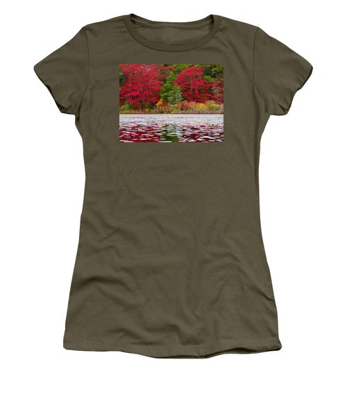 Women's T-Shirt (Junior Cut) featuring the photograph Cape Cod Autumn by Dianne Cowen