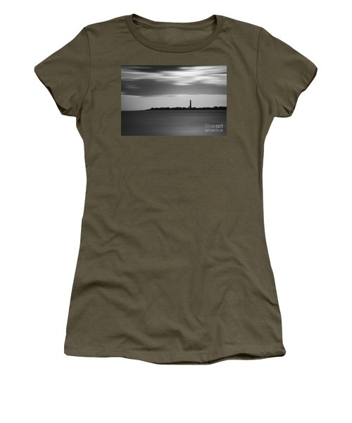 Cape May Lighthouse Long Exposure Bw Women's T-Shirt