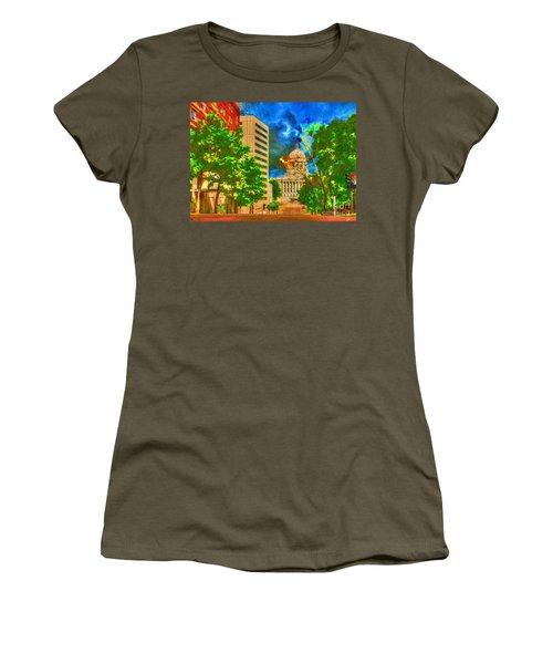 Capital - Jefferson City Missouri - Painting Women's T-Shirt (Athletic Fit)