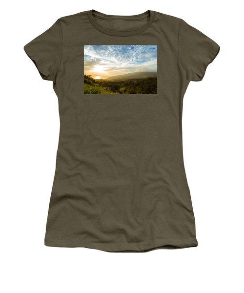 Caribbean Dream - Martinique Sunset Over Mount Pelee Women's T-Shirt