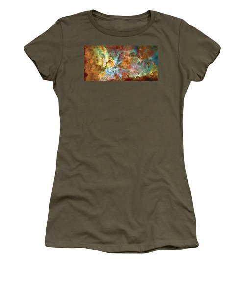 Carina Nebula - Interpretation 1 Women's T-Shirt (Junior Cut) by Jennifer Rondinelli Reilly - Fine Art Photography