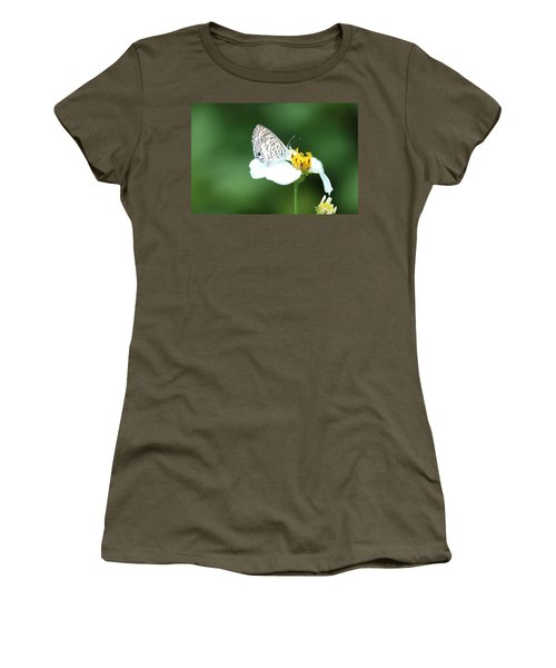 Women's T-Shirt (Junior Cut) featuring the photograph Cassius Blue On Wildflower by Greg Allore