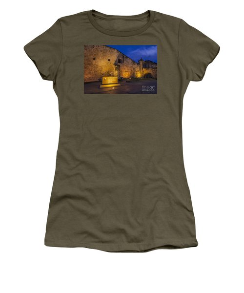 Women's T-Shirt featuring the photograph Castillo San Cristobal In Old San Juan Puerto Rico by Bryan Mullennix