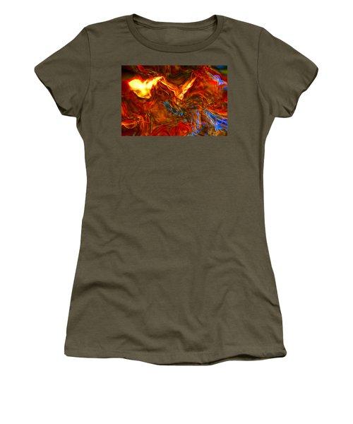 Women's T-Shirt (Junior Cut) featuring the digital art Cat And Caduceus In The Matmos by Richard Thomas