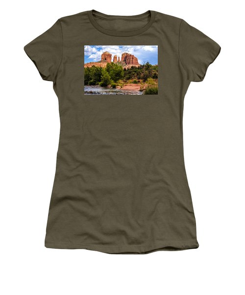Cathedral Rock Women's T-Shirt (Junior Cut) by Fred Larson
