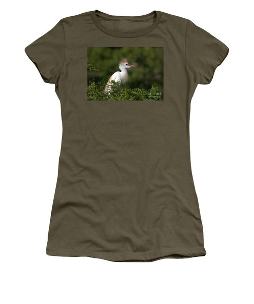 Cattle Egret No. 5 Women's T-Shirt (Athletic Fit)