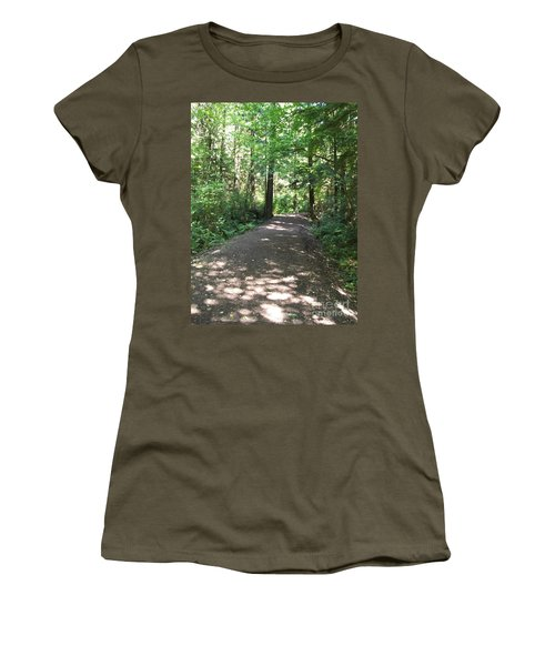 Cedar Shadow Steps Women's T-Shirt (Athletic Fit)