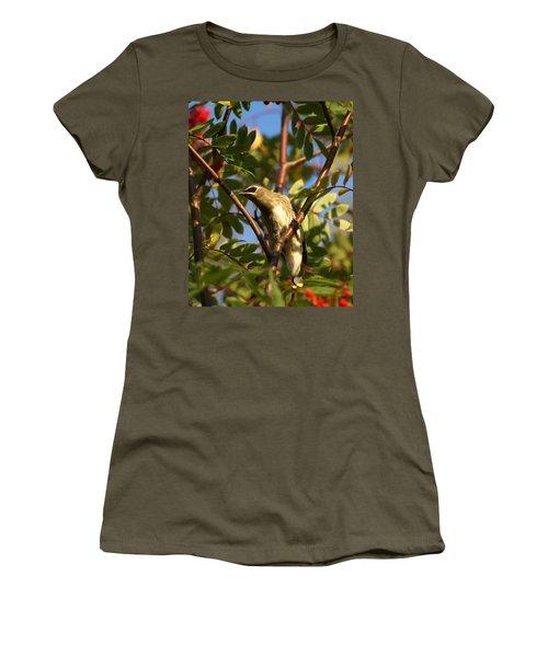 Women's T-Shirt (Junior Cut) featuring the photograph Cedar Waxwing by James Peterson