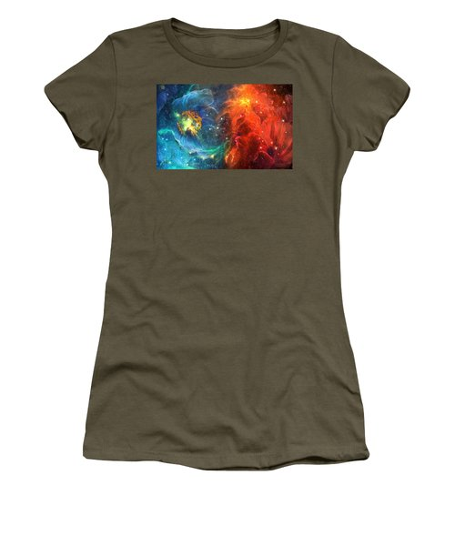 Celestial Poppies - Red And Blue Women's T-Shirt