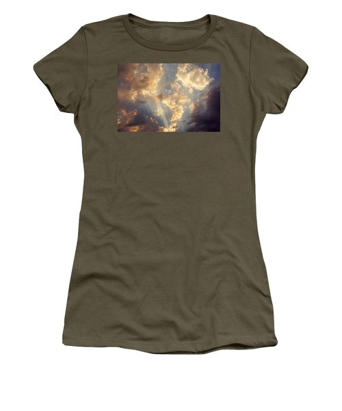 Celestial Twilight Sunset Art Prints Sunrays Women's T-Shirt