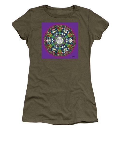 Celtic Spring Fairy Mandala Women's T-Shirt (Athletic Fit)