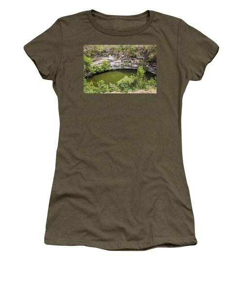 Women's T-Shirt featuring the photograph Cenote Sagrado At Chichen Itza by Bryan Mullennix