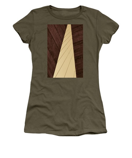 Charleston Bridge Abstract Women's T-Shirt (Athletic Fit)
