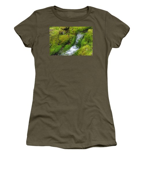 Women's T-Shirt (Junior Cut) featuring the photograph Chasing Waterfalls by Marilyn Wilson