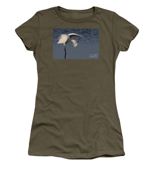 Checking For Leaks - Reddish Egret - White Form Women's T-Shirt