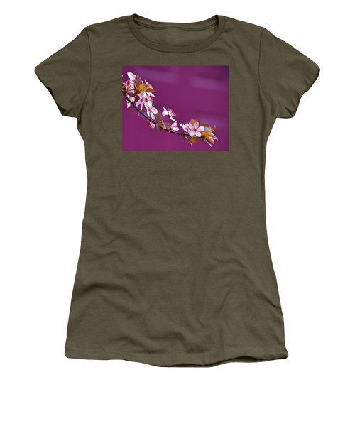 Cherry Blossoms And Plum Door Women's T-Shirt