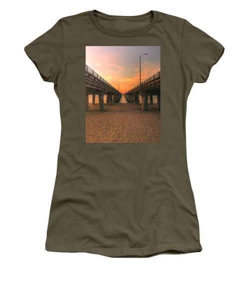 Chesapeake Bay Bridge IIi  Women's T-Shirt (Athletic Fit)
