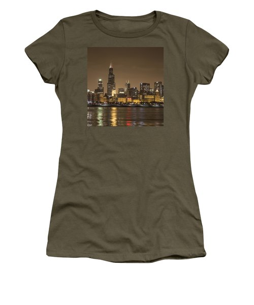 Chicago Skyline - World Aids Day 12/1/12 Women's T-Shirt