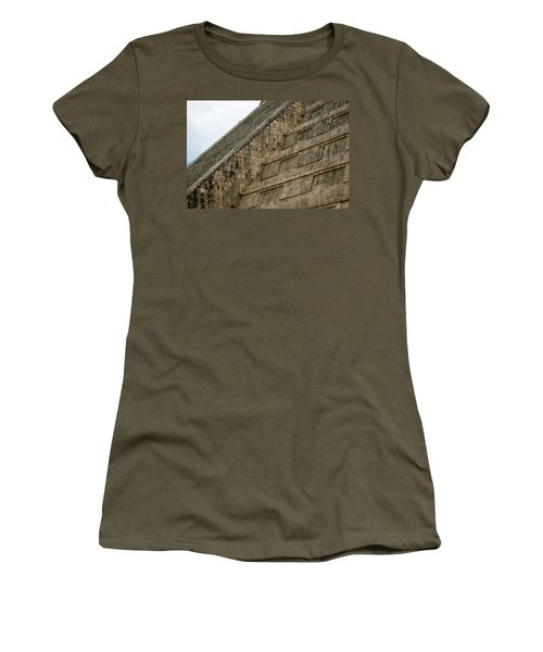 Chichen Itza Women's T-Shirt (Junior Cut) by Silvia Bruno