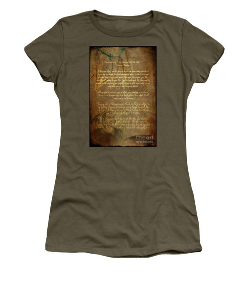 Chief Tecumseh Poem Women's T-Shirt
