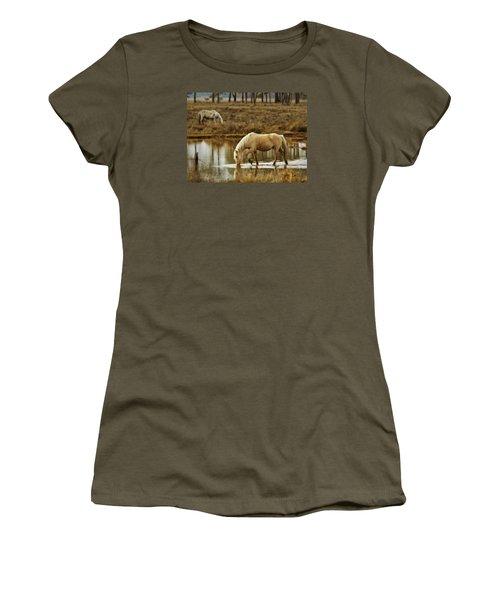 Chincoteague Gold Women's T-Shirt (Junior Cut) by Joan Davis