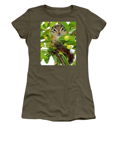 Women's T-Shirt (Junior Cut) featuring the photograph Chip Or Dale by Barbara Chichester