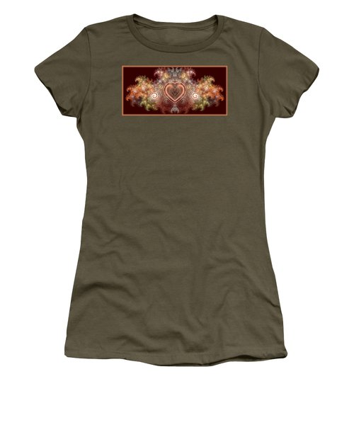 Chocolate Heart Women's T-Shirt (Athletic Fit)