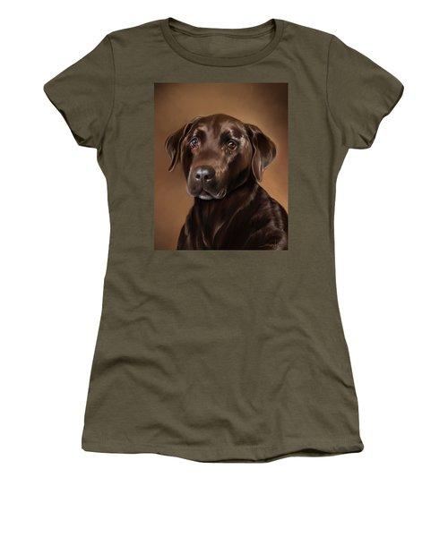 Chocolate Lab Women's T-Shirt (Junior Cut) by Michael Spano