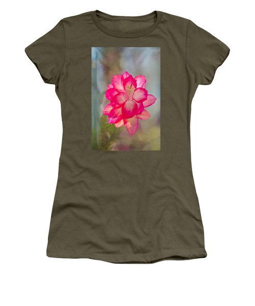 Christmas Cactus Bokeh Women's T-Shirt