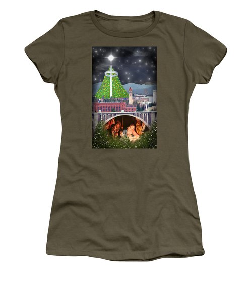 Christmas In Spokane Women's T-Shirt