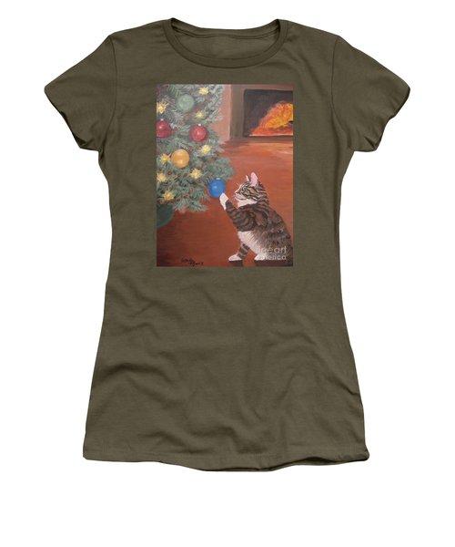 Christmas Kitty Cat Women's T-Shirt