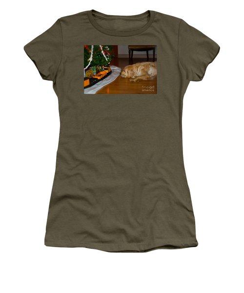 Christmas Train Women's T-Shirt