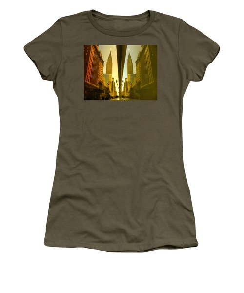 Chrysler Reflection On 42nd Street Women's T-Shirt