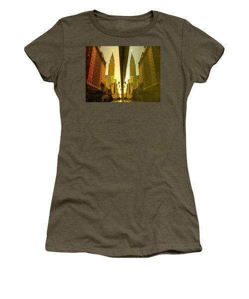 Chrysler Reflection On 42nd Street Women's T-Shirt