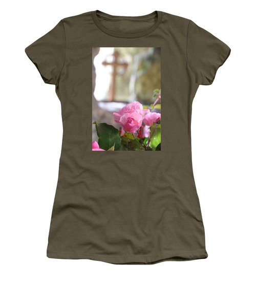 Church Flowers Women's T-Shirt (Junior Cut) by Jeremy Voisey
